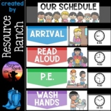 Classroom Schedule Cards Editable Backgrounds