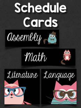 Schedule Cards: Cartoon Cats