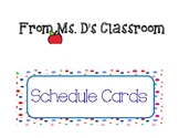 Schedule Cards!!