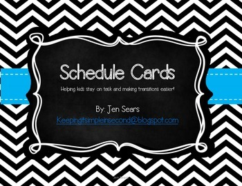 Schedule Cards (Black and White)