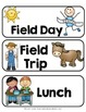 Schedule Cards EDITABLE {Freebie}