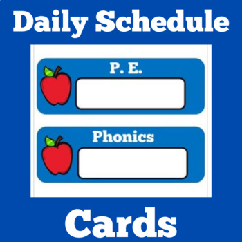 Daily Schedule Cards | Schedule Cards | Class Schedule | Apple Theme