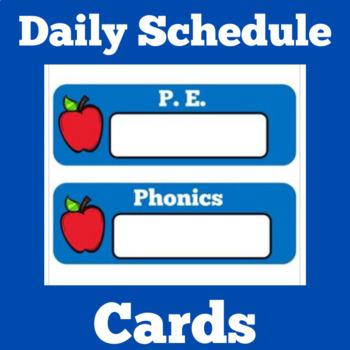 Daily Schedule Cards | Schedule Cards | Class Schedule | A