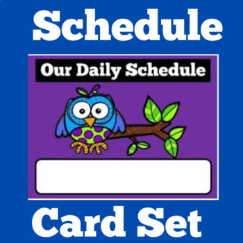 Daily Schedule Cards   Schedule Cards   Class Schedule   Owl Theme