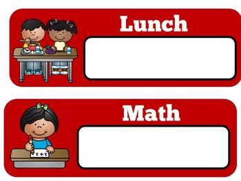 Daily Schedule Cards | Schedule Cards | Class Schedule | School Theme