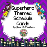 Superhero Theme Schedule Cards ❤ Superhero Schedule Cards