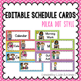Classroom Labels Editable Schedule Cards