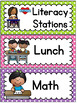 Classroom Labels - Editable Schedule Cards