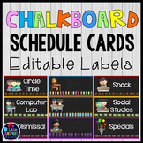 Classroom Labels Editable Daily Schedule Cards with Pictures