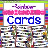 Bright, Rainbow EDITABLE Schedule Cards
