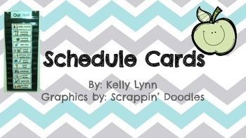 Chevron Schedule Cards and Folder Labels