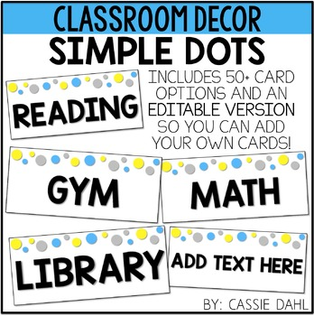 Simple Dots Schedule Cards