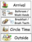Preschool Schedule Cards for pocket chart