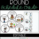 EDITABLE Daily Schedule Cards (Round)