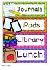 Classroom Schedule Cards: Editable