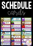 Classroom Schedule Cards: Editable