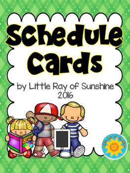 Schedule Cards Back to School
