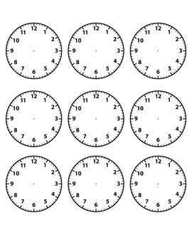 Daily Schedule Cards with Clocks