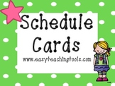 Schedule Cards {38 Lime green polka dot}
