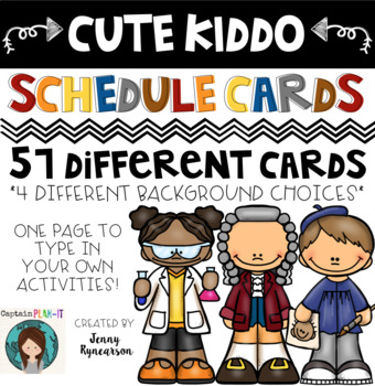 ♥ Cute Kiddo Theme (with Dunn-Inspired Font) Schedule Cards! ♥