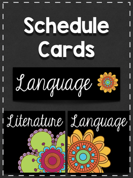 Schedule Cards: 70's Flowers