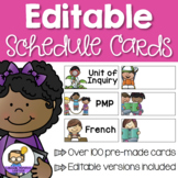 Editable Schedule Cards - A visual daily timetable