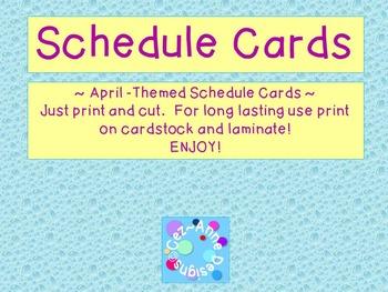Labels - Schedule Cards ~ April Theme