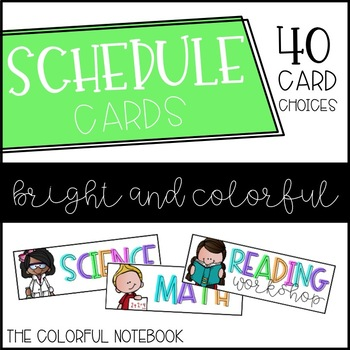 Schedule Cards {BRIGHT & COLORFUL}