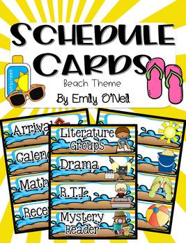 Schedule Cards (Beach Theme)