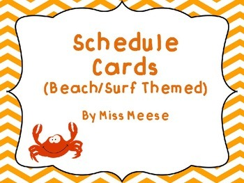 Schedule Cards (Beach Themed)