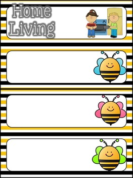 Schedule Cards (Bee Theme)