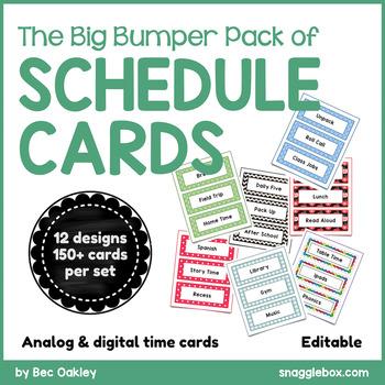 Schedule Cards *Big Bumper Pack* EDITABLE