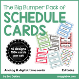 Schedule Cards *Big Bumper Pack* EDITABLE