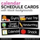 Schedule Cards {Black Series} EDITABLE