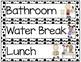 Schedule Cards: Black & White Polka Dots Decor