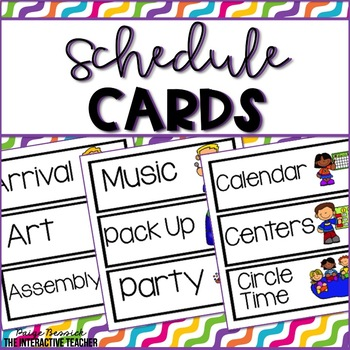 Schedule Cards-Black and White