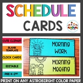 Schedule Cards Black and White