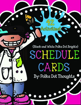 Schedule Cards {Black and White Polka Dot Brights}