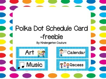 Schedule Cards - Blue Polka Dot- freebie