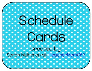 Schedule Cards - Blue Polka Dots