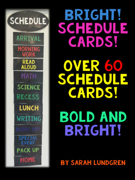 Schedule Cards - Bold & Bright!