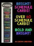 Schedule Cards - Bold & Bright!