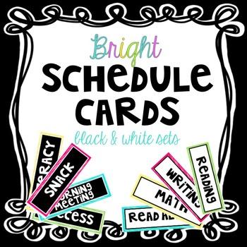Schedule Cards ~ Bright