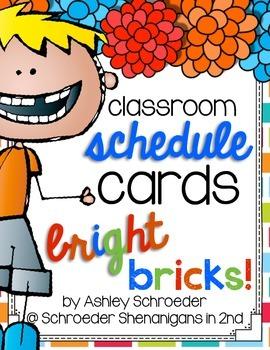 Schedule Cards Bright Bricks!