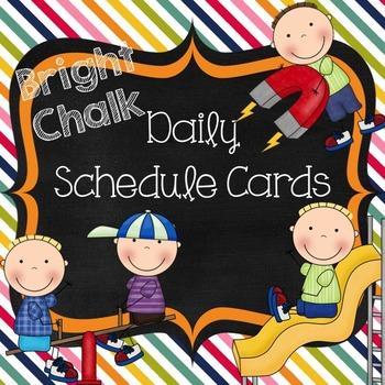 Schedule Cards- Bright Chalk