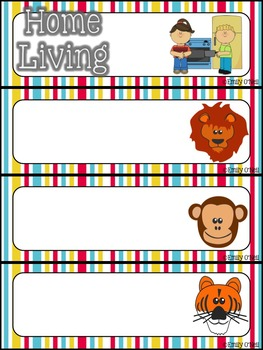 Schedule Cards (Bright Circus Theme)
