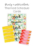 Schedule Cards (Bright, Fruity and Watercolor Theme)