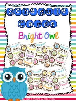 Schedule Cards {Bright Owl}