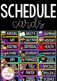 Editable Schedule Cards | Bright and Bold