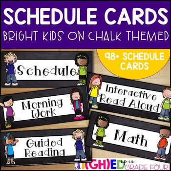 Schedule Cards {Bright and Chalkboard Themed}